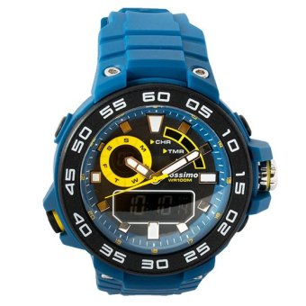Mossimo Compass Men Silicone Strap Watch MS-1509G-BLU (Blue) Price Philippines