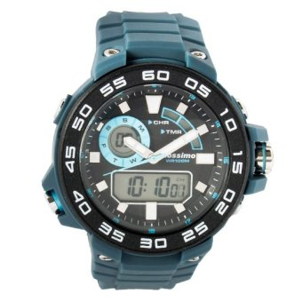 Mossimo Compass Men Silicone Strap Watch MS-1509G-GRY (Grey)