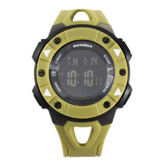 Mossimo Kellan Unisex Green Silicone Strap Watch MS-1409G-GRN