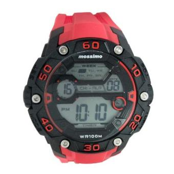 Mossimo Michael Unisex Red Silicone Strap Digital Watch MS-1505G-RED