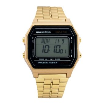 Mossimo Retro Unisex Stainless Steel Strap Watch MS-1503G-GLD (Gold)