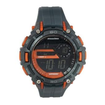 Mossimo Solano Unisex Grey Silicone Strap Digital Watch MS-1321G-ORG