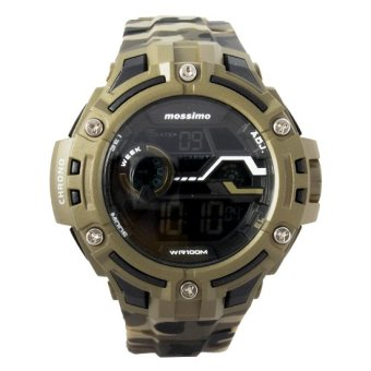 Mossimo The JB Men Silicone Strap Watch MS-1508G-GRNCAMO (Green/Camouflage)