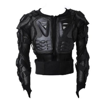 Motocross Racing Motorcycle Armor Protective Jacket XL (Black)
