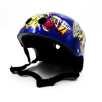 Motor Craze Half Face Crash Safety Do it Printed Passenger Helmet(Blue)