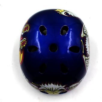 Motor Craze Half Face Crash Safety Do it Printed Passenger Helmet(Blue) - 3