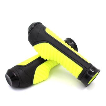 Motor Craze Handle Pair Grip For Bicycle MTB BMX Bike Handlebar(Yellow)
