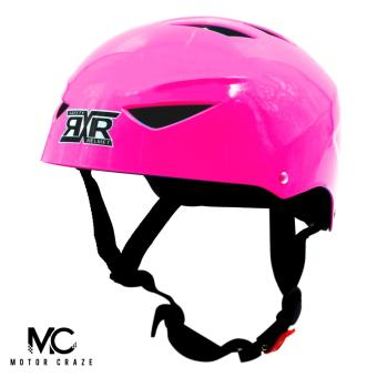 Motor Craze RXR Half Face Crash Safety Plain Passenger Helmet (HotPink)