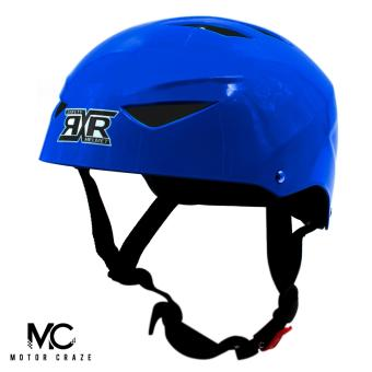 Motor Craze RXR Half Face Crash Safety Plain Passenger Helmet(Royal Blue)