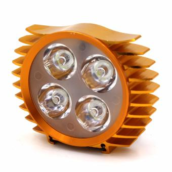 Motor Craze Universal Motorcycle 4 LED Light (Orange)