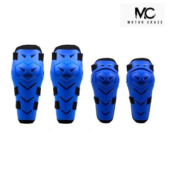 Motor Craze Vemar Knee and Elbow Body Guard Armour SupportMotorcycle Dirt ATV Racing Gear Pads (Blue)