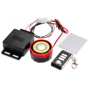 Motorbike Motorcycle Anti-theft Security Alarm System Remote Control Black