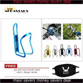 motorcycle bicycle water bottle holder rack aluminum gold foryamaha sniper 150 mxi