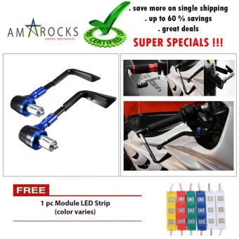 Motorcycle Bike Scooter Blue Rizoma Hand Grip Guard - Break Clutch Lever Protect Hand Guard Universal for Yamaha Mio Aerox 155