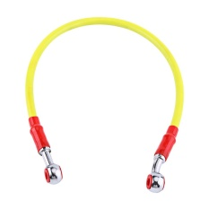 Motorcycle Brake Oil Hose Fuel Tube Line Fitting Stainless SteelBraided (45cm, Yellow) -