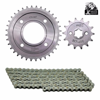 Motorcycle Chain And Sprocket Set XRM Wave 14T-38T 428-110L