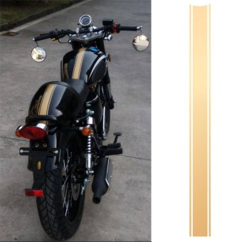 Motorcycle DIY Tank Fairing Cowl Vinyl Stripe Pinstripe Decal Sticker For Cafe Racer (Gold) - intl
