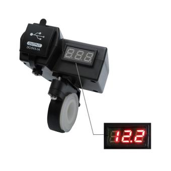 Motorcycle dual USB Charger digital Voltmeter and On/Off Switch 5V3.1A Dual Power Port