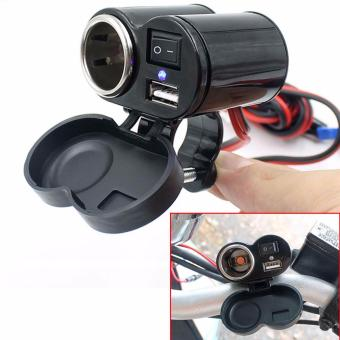 Motorcycle E-Bike Scooter Waterproof 12v USB Phone Charger & Cigarette Lighter #0251