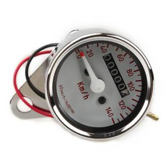 Motorcycle Mini Electronic Speedometer with Odometer Night Light - picture 2
