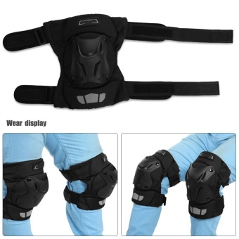 Motorcycle Motocross ATV Knee Pads Breathable Kneelet Knee BraceProtective Armor Set - intl