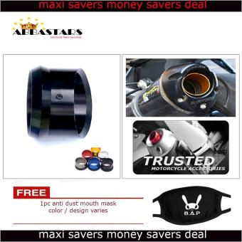 Motorcycle Muffler Exhaust Tip Cover Black for Kawaski Bajaj Rouser200NS