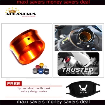 Motorcycle Muffler Exhaust Tip Cover Orange Gold for for Yamaha MioSoul i 125