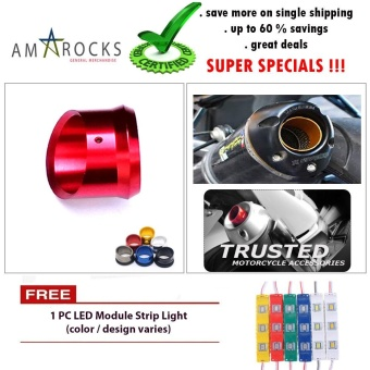Motorcycle Muffler Exhaust Tip Cover Red for Honda Beat 110 Fi (Standard)