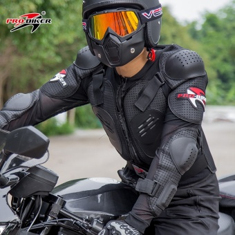 Motorcycle riding protective clothing breathable racing armorjacket - intl - 3