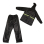 Motorcycle Raincoat Jacket & Pants Unisex (Black)