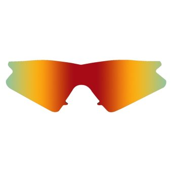 MRY POLARIZED Replacement Lenses for Oakley M Frame SweepSunglasses Fire RED (Intl)