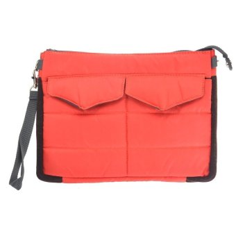 Multi-functional Gadget Pouch Bag in Bag Handbag Travel Storage BagOrganizer for iPad /Tablets (Red)