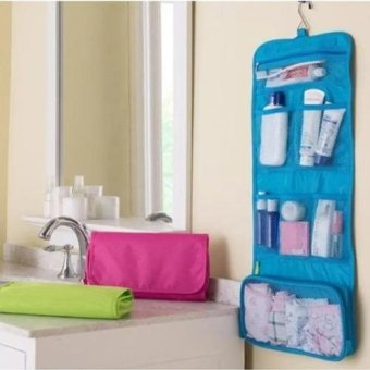 Multifunction Travel Portable Wash Bag Cosmetic Makeup PouchToiletry Organizer (Blue)