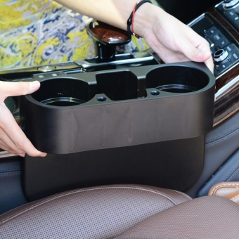 Multifunctional automobile mounted drinking cup rack box(black) -intl