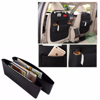 MultiFunctional Automobile Storage Bag (Black) With Free As Seen OnTV Catch Caddy Seat Pocket Catcher (Black)