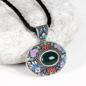N011-C Classic NationalNecklace for Women green - Intl - picture 2