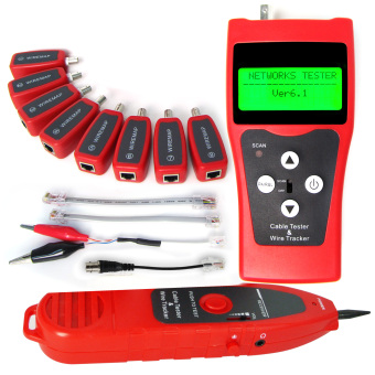 N03NF-388 Gain Express Digital LAN Telephone Coaxial USB Wire Cable Tester with 8 Remote Identifier Test Jacks - Intl