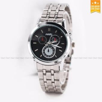Nary 6041 Business Men's Stainless Steel Strap Quartz Wrist Watch