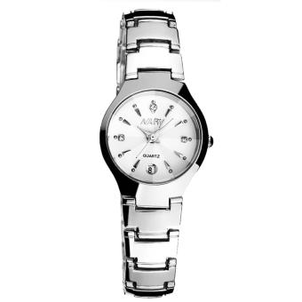 NARY 6112B Fashion Women White/Silver Stainless Steel Quartz Watch