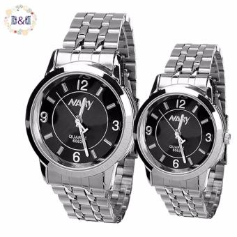 NARY Lovers Black Stainless Steel Strap Watch 6063