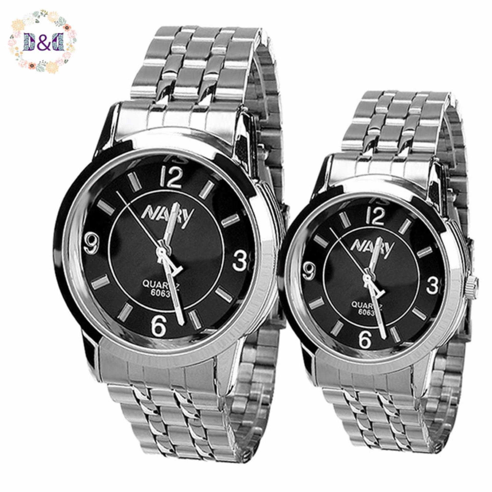 Home; Jewellery; Watches. NARY Lovers Black Stainless Steel Strap Watch 6063