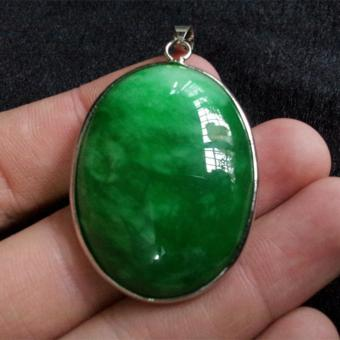 Natural Full-green Emerald Original Stone Pendants Fashion WomenHigh-end Jade Jewelry - intl Price Philippines