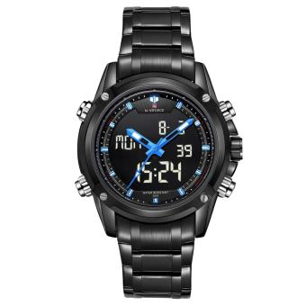 Naviforce Stainless Steel Strap Men's Watch NF9050 (Black/Black/Blue)