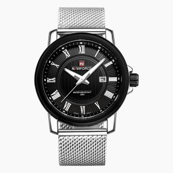 Naviforce Stainless Steel Strap Men's Watch NF9052 (Silver/Black)