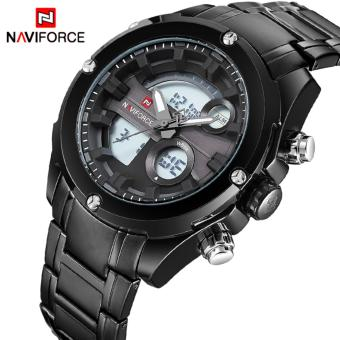 Naviforce Stainless Steel Strap Men's Watch NF9088 (Black/Black/Grey)
