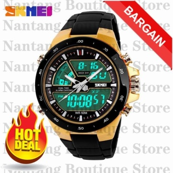 *NBS Limited Time Offer* SKMEI 1016 Men's Gold Silicone Strap Watch
