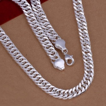 Necklace 925 Silver Necklace 925 Silver Fashion Jewelry NecklaceMen Sideways Jewelry Wholesale Christmas Valentine's Day Gifts -intl