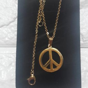 Necklace Stainless Steel with Peace sign pendant