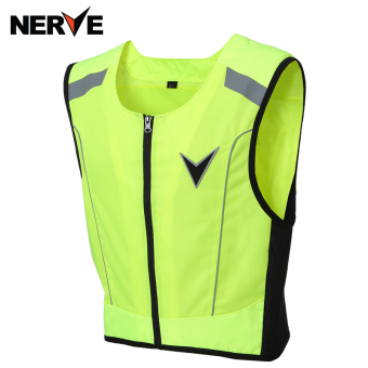 Nerve flourescent green reflective warning protective vest