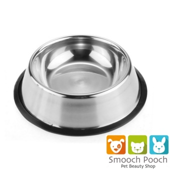 New 2017 Best Quality Pet Stainless Steel No tip Non Skid Dog PuppyCat Pet Food Water Bowl Dish 16oz